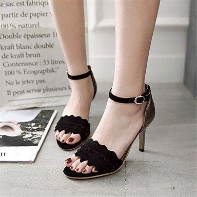 y Sandalias Black y Stiletto Personalizados Boda del Noche Materiales Zapatos LvYuan Innovador club Vestido Tacón Fiesta Trabajo Confort Oficina qvxU5wO0