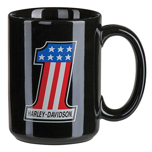 (Harley-Davidson Core #1 Racing Coffee Mug, 15 oz. - Gloss Black HDX-98617)