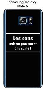 Carcasa para Samsung Galaxy Note 5, diseño de mensaje, los cons texto, color blanco