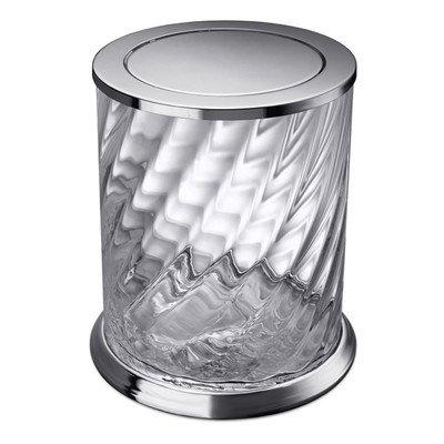 Windisch 89805CR-638845337274 Spiral Collection Waste Basket, Chrome