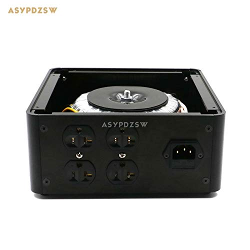 Pukido U.S 500VA Toroidal balanced isolation transformer 500W AC isolation power supply processor With 4 outlet socket - (Plug Type: 230V IN to 230V OUT) ()
