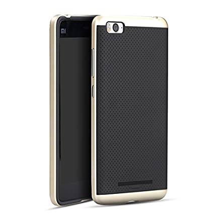 size 40 08374 578ae IPaky Premium TPU+PC Armor Protective Back Cover For Xiaomi Mi 4i ,Golden