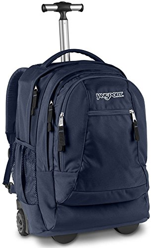 Jansport Driver 8 Wheeled Backpack (Navy) by JanSport