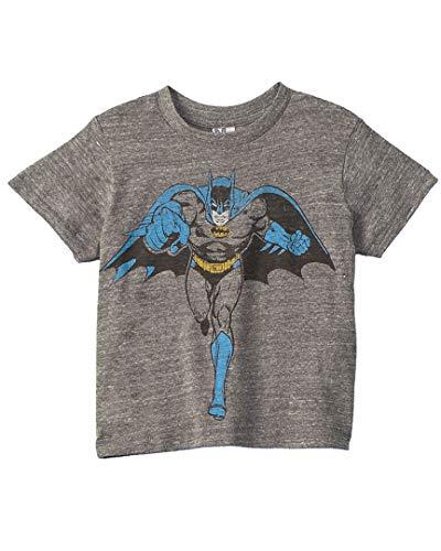 (Junk Food Boys' Batman No Bad Guys Toddler, Steel)