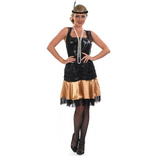 huge discount dd2b6 36444 Fancy Me da Donna Nero Oro Anni '20 Anni 30 MASCHIETTA ...