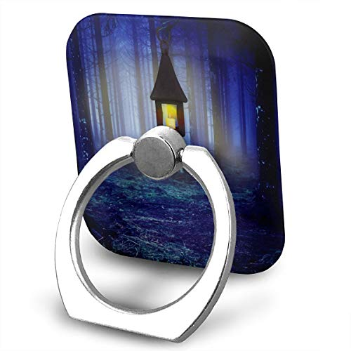 Square Finger Ring Stand 360°Rotation Phone Holder Grip Candle Tree Light Kickstand for Smartphones and Ipad