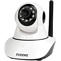 Funxwe 1080P 960P Wireless WiFi IP Camera Pan/Tilt Wide Angle Security Surveillance Motion Detection Alarm Support TF SD Card White