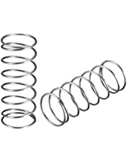 """uxcell Wire Diameter"""", OD"""", Free Length"""" Stainless Steel Coil Extended Compressed Spring 10pcs"""