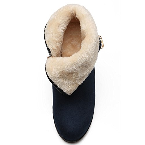 Coolcept Zipper Hidden Blue Heel h Women with Booties rXqr6