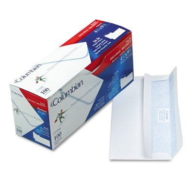 Self-Seal Business Envelopes wit Security Tint, #10, White, 100/Box, Sold as 100 Each ()