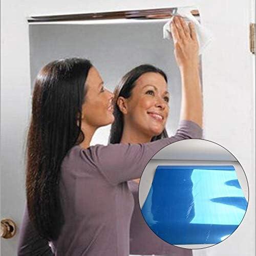 zuoshini Adesivi Specchio Riflettente Adesivo da Parete Specchio Autoadesivo Stick Su Specchio Adesivo da Parete Autoadesivo Specchio Riflettente con Pellicola Protettiva