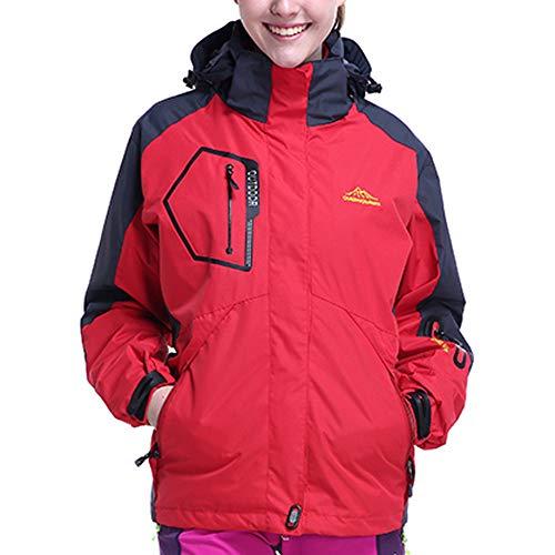 et Rouge Youngii Manteau Pieces Molleton Taille d'assaut Femme Sport Veste Top Outdoor Chaud Hiver Ensemble Manteau Ski 2 Grand Mode w15qx1HBC