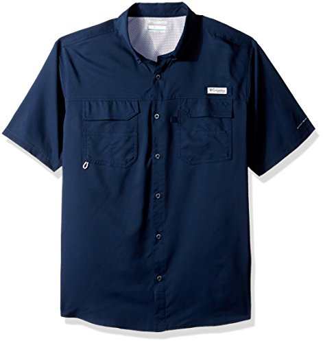 Columbia Men's Blood and Guts III Shorts Sleeve Woven Shirt, Collegiate Navy, X-Large