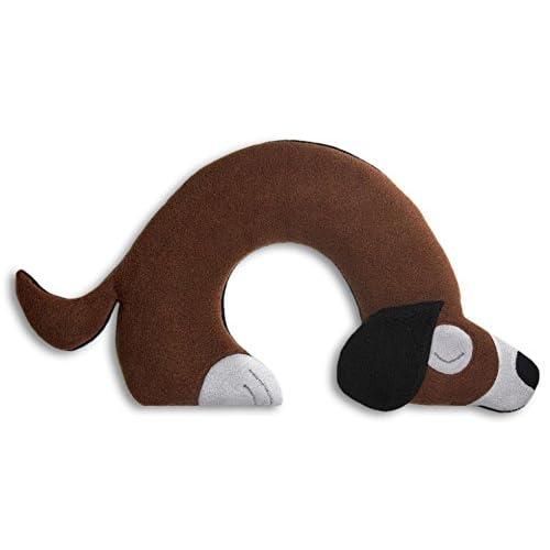 Leschi   Coussin chauffant (nuque et épaules)   36889   Bobby le Chien   Couleur : Chocolat / Minuit
