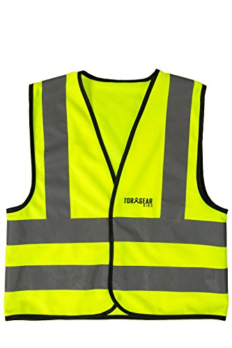 [TorxGear Kids Child Safety Vest, Children's Hi-Vis Apparel, 4 Reflective Strips (1 Pack)] (Construction Girl Costume)