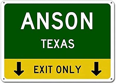 WallAdorn Anson Texas This Exit Only Heavy Duty Parking ...