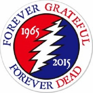 Grateful Dead Forever Grateful 2.25 Inch Pinback Button Goodfull