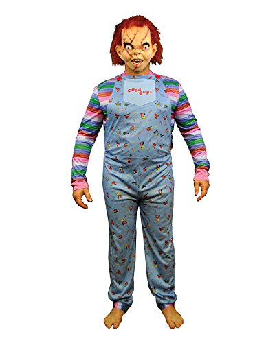(Largemouth Men's Chucky Child's Play 2 Good Guy Jumpsuit Costume)