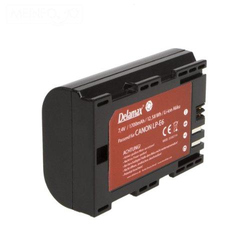 Delamax Qualitätsakku für Canon EOS 60D 7D 6D 5D Mark II, 5D Mark III - ersetzt Canon LP-E6