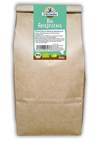 Erdschwalbe BIO Reisprotein 1kg-Beutel - 82% Proteingehalt