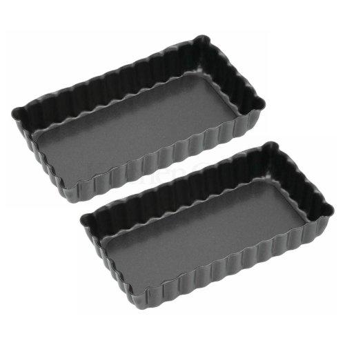 "Set of 2 Mini Quiche / Flan Tins / Pans (4.3"" X 2.3"")"