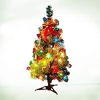 Nuobesty - Mini árbol de Navidad de mesa artificial con luz LED ...