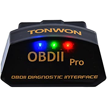 TONWON OBD2 Scanner OBDII Bluetooth Scan Tool Car Fault Code Reader for iOS Android