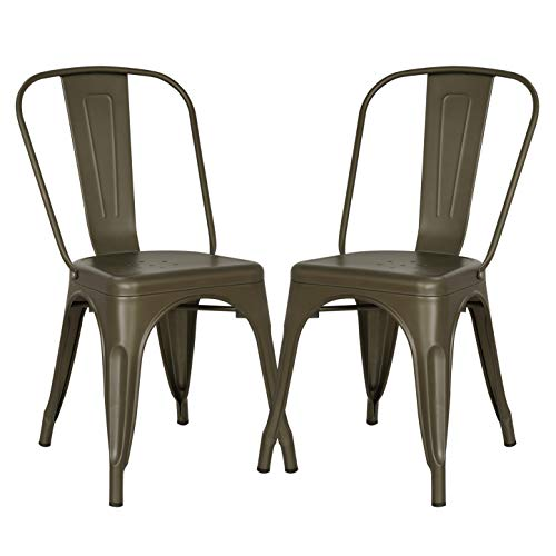 (Poly and Bark Trattoria Side Chair in Bronze (Set of 2))