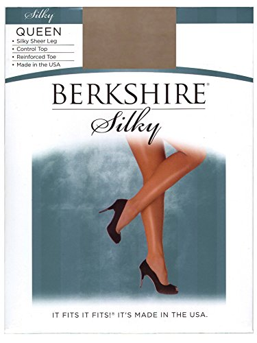 Berkshire Silky Sheer Control Top Lycra Pantyhose - Queen Si