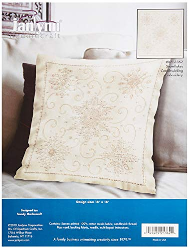 Janlynn Candlewick Decorative Pillow, Snowflake