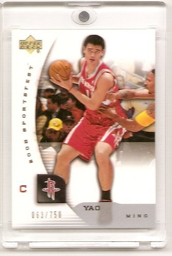 - 2005 Upper Deck # Rare - Yao Ming Houston Rockets Limited Edition Basketball Card (Limited To 750 Numbered Cards)
