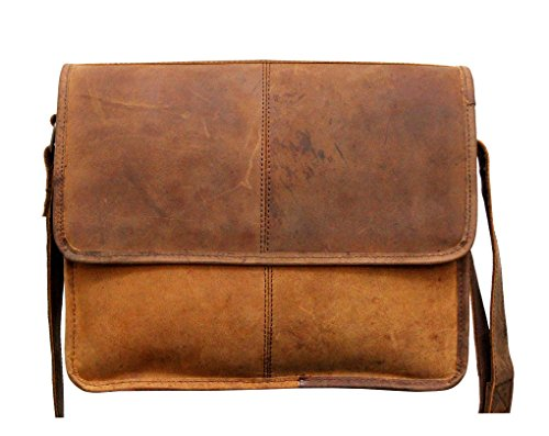 Handcrafted exports Buffalo Vintage Leather Rustic Shoulder Messenger Bag. by Handcrafted exports