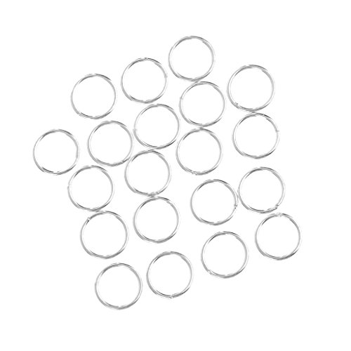 20 Piece 925 Sterling Silver Soldered Closed Jump Rings Jewelry Findings for Jewelry Making - 5mm