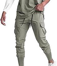 Zainafacai Mens Casual Cargo Pants Workout Athletic Joggers Pants Cotton Sport Gym Pants Relaxed Fit Sweatpant