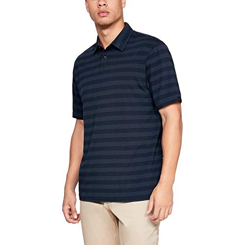 Under Armour mens Charged Cotton Scramble Stripe Golf Polo, Academy (408)/Academy, Large