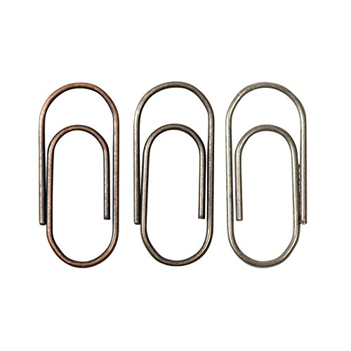 Metal Mini Paper Clips by Tim Holtz Idea-ology, 48 per Pack, 5/8 Inch, Antique Finishes, TH92791