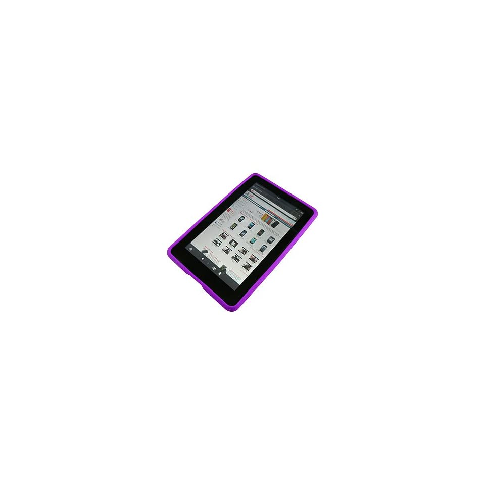 AM Soft Sleeve Gel Cover Skin Case for  Kindle Fire  Purple