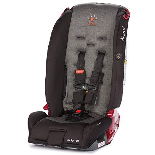 Diono Radian R100 All-in-One Convertible Car Seat, For Children from Birth to 100 Pounds, Black Mist