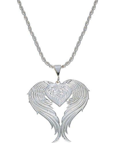 Montana Silversmiths Women's Silver Winged Heart Necklace Silver One - Winged Heart Silver