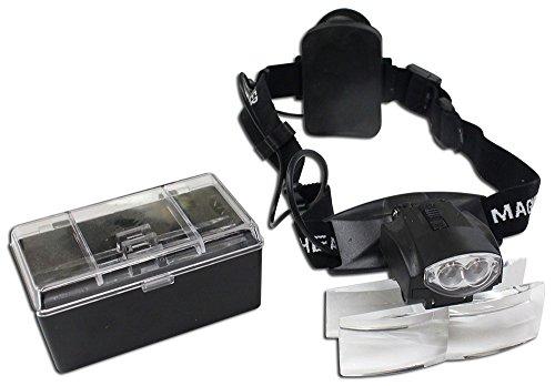 HAWK OPTICALS Lightweight Head Worn Magnifier With