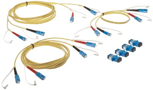 DPLX-SC3 Duplex Singlemode 3 Jumper Test Reference Cord kit for SC Adapter, 9 µm, SC/SC - 2 m Cable Length, SC/SC - 0.5 m Cable Length ()