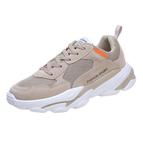 HEETEY Männer große Größe Fly Woven atmungsaktive Laufschuhe Outdoor Casual Sneakers Schuhe Laufschuhe Air Atmungsaktiv Turnschuhe Schnürer Leichte Stoßfest Mode Sportschuhe