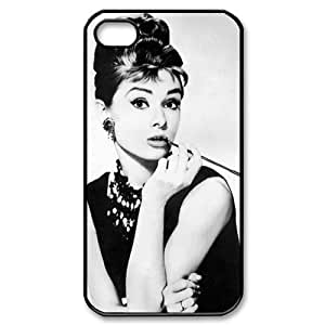 Custom Your Own Personalised Audrey Hepburn iPhone 4/4S Best Durable Case Cover