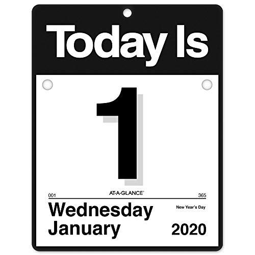 AT-A-GLANCE 2020 Daily Wall Calendar Refill, 8-1/2