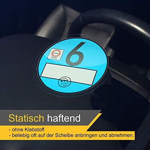 Lampa 07246 3D Chrom-Emblem Umweltplakette Euro 6 100 x 25 mm Gr/ö/ße