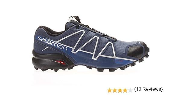 Salomon SPEEDCROSS 4 AZUL NEGRO 383136: Amazon.es: Zapatos y complementos