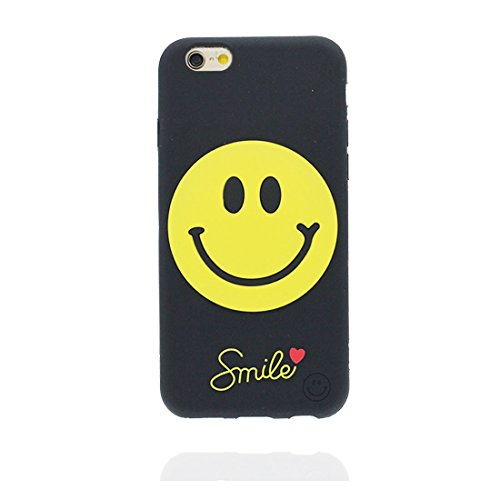 "iPhone 6 Coque, étui iPhone 6s Cover 4.7"", [ TPU flexible 3D Smiley Chatting Expression ] iPhone 6 Case 4.7 pouces, anti-chocs, des empreintes digitales & ring Support de téléphone"