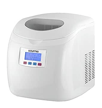 Gourmia GI110 Compact Portable Electric Ice Maker, Express Machine with 3 Quart Water Tank, Get Ice In 10 minutes; Makes 26 Pounds of Ice a Day - White - 110/120V