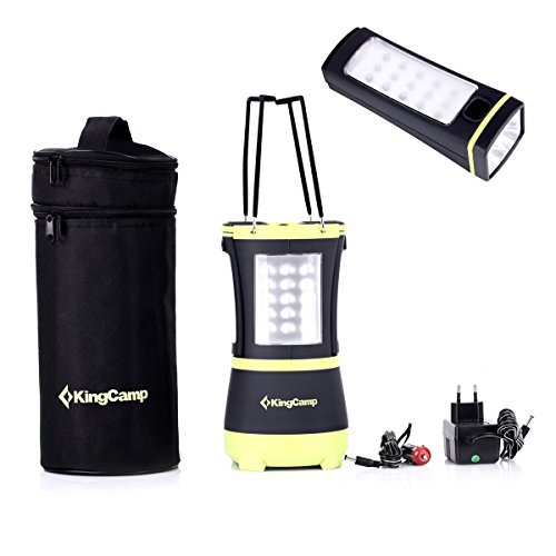 KingCamp: Best Rechargeable LED Lantern – 2 Flashlights Included