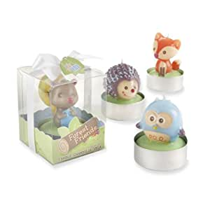 Kate Aspen Set of 4 Forest Friends Woodland Candles (Discontinued by Manufacturer)